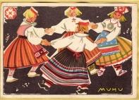 folk dance print