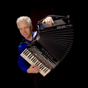"On Friday, May 20, Folk Dance Brunswick's ""Balkan and Beyond"" dance night will feature live music by legendary accordionist Tom Pixton (shown) and multi-instrumentalist/percussionist Yaron Shragai. All are welcome. [Photo courtesy of Tom Pixton.]"